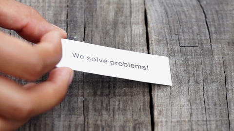 We solve problems Stock Video Footage