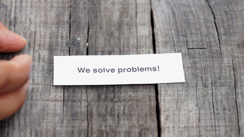 We solve problems Live Action