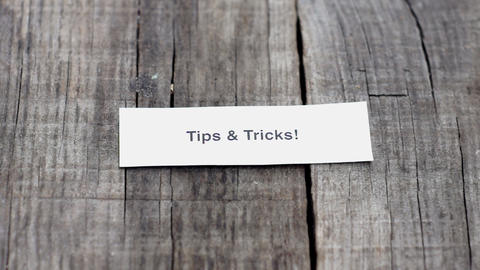 Tips and Tricks Stock Video Footage