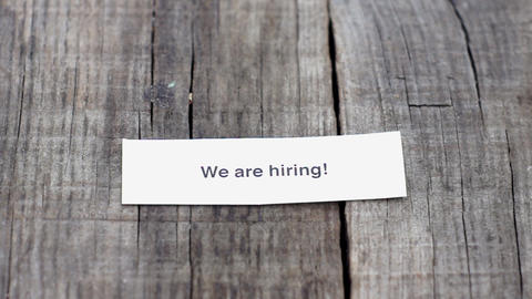 We are hiring Footage