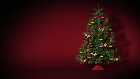 Beautiful Christmas tree with gifts. HD 1080. Loop Stock Video Footage