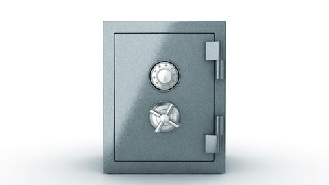 Safe door opening. Camera flying inside. HD 1080. Stock Video Footage