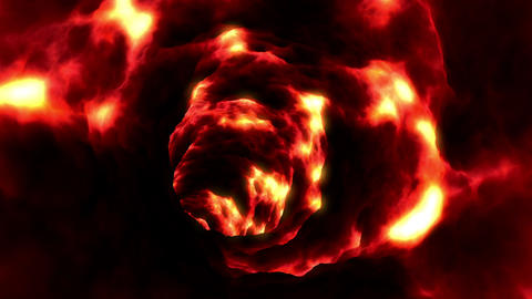 Lava Tunnel. Looped animation. HD 1080 Stock Video Footage