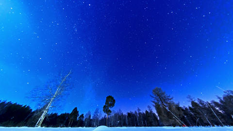 The stars in the night sky Stock Video Footage