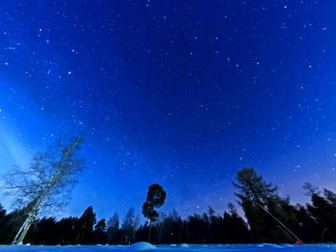 Night starry sky on a fisheye. Fixed distortion. T Footage