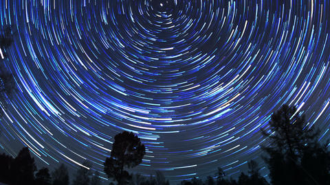 The stars in the night sky Footage