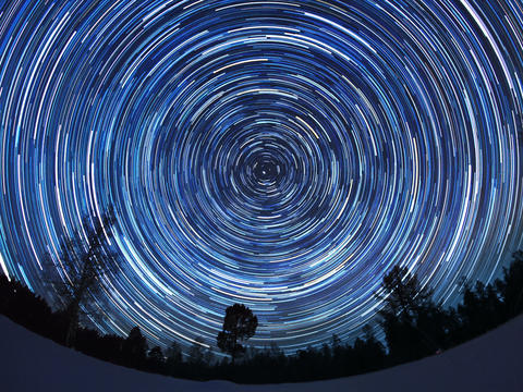Star tracks. Fisheye. Time Lapse. 4x3 Stock Video Footage