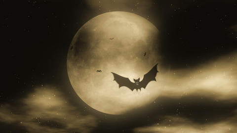 Bat Attack 2 - Halloween Party Video Background Lo Stock Video Footage