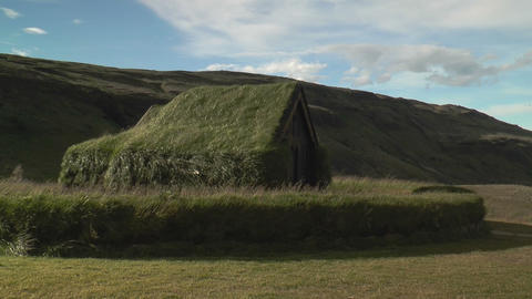 Historic Building Of The Vikings In Iceland stock footage