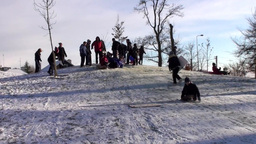 Fun in the Snow 1 Stock Video Footage
