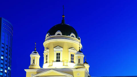 Holy Trinity Cathedral, Yekaterinburg. Time Lapse Footage