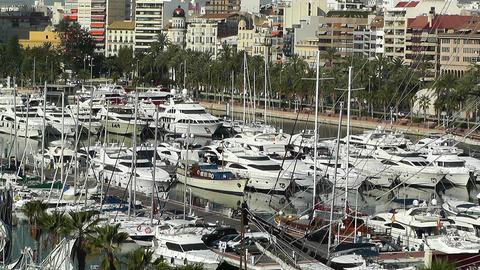 Alicante Spain 4 port Stock Video Footage
