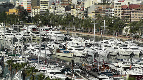 Alicante Spain 4 port Footage