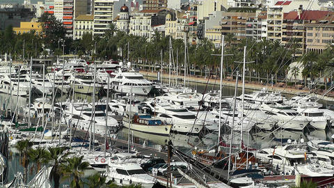 Alicante Spain 4 port Stock Video Footage