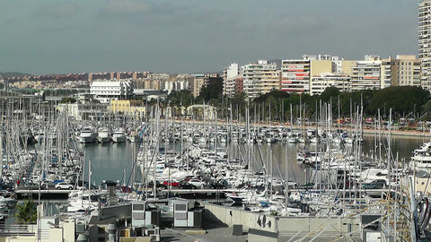 Alicante Spain 10 port Stock Video Footage