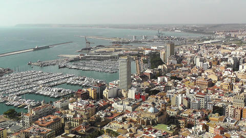 Alicante Spain 16 aerial Stock Video Footage