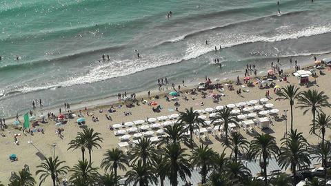 Alicante Spain 22 aerial beach Stock Video Footage