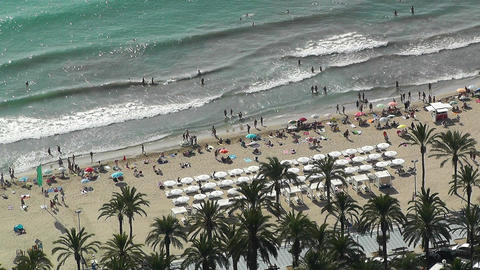 Alicante Spain 22 aerial beach Footage