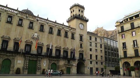 Alicante Spain 66 Placa Ajutament Stock Video Footage
