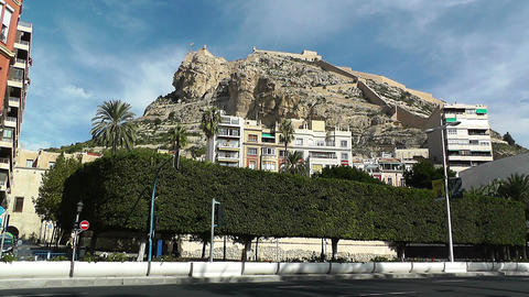 Alicante Spain 73 castle on hill Footage