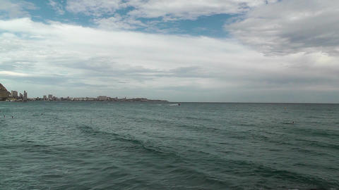 Alicante Spain 100 beach Stock Video Footage