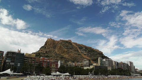 Alicante Spain 102 beach Stock Video Footage