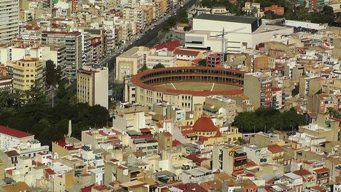 Alicante Spain Bull Arena 18 aerial Stock Video Footage