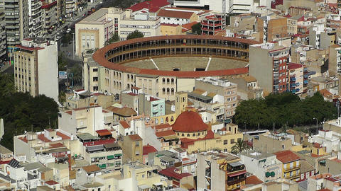 Alicante Spain Bull Arena 29 aerial Stock Video Footage