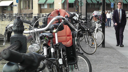 Bikes in Stockholm Downtown 1 Footage