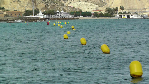 Bouys on Water 1 Stock Video Footage