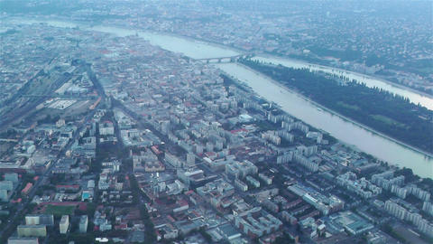 Budapest Aerial 1 Stock Video Footage
