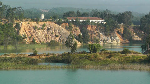 Countryside in Portugal 2 Pond Stock Video Footage
