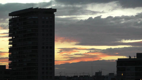 Dramatic Clouds Sunset 4 Stock Video Footage