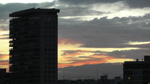 Dramatic Clouds Sunset 4 Footage
