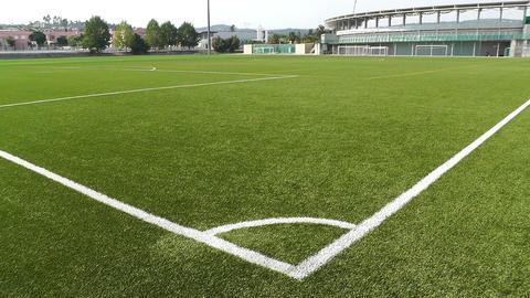 Empty Training Football Soccer Field Corner 1 Stock Video Footage