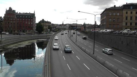 Gamla Stan Stockholm 2013 1 traffic Stock Video Footage
