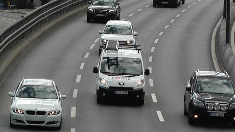Gamla Stan Stockholm 2013 3 traffic Stock Video Footage