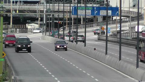 Gamla Stan Stockholm 2013 9 traffic Stock Video Footage