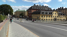 Gamla Stan Stockholm 2013 13 riddardholmsbron Stock Video Footage