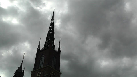 Gamla Stan Stockholm 2013 15 riddardholmskyrkan Stock Video Footage