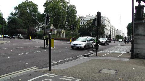 Hyde Park London 13 kensington road handheld Stock Video Footage