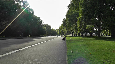 Hyde Park London 15 handheld Stock Video Footage