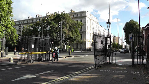 Hyde Park London 18 entrance handheld Stock Video Footage