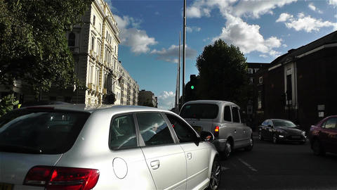 Hyde Park London Kensington Road 20 handheld Stock Video Footage