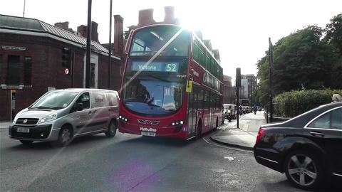 Hyde Park London Kensington Road 22 handheld Stock Video Footage