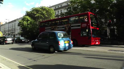 Hyde Park London Kensington Road 24 handheld Stock Video Footage