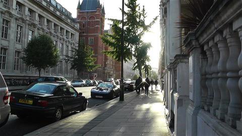 Kensington London 2 handheld Stock Video Footage