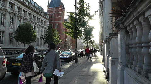 Kensington London 2 handheld Stock Video Footage