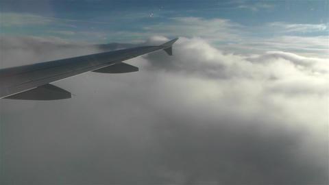 Landing in Clouds 1 Stock Video Footage
