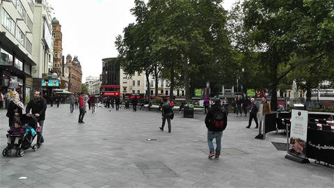 Leicester Square London 1 handheld Footage